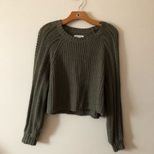 American Eagle Cropped Knitted Sweater